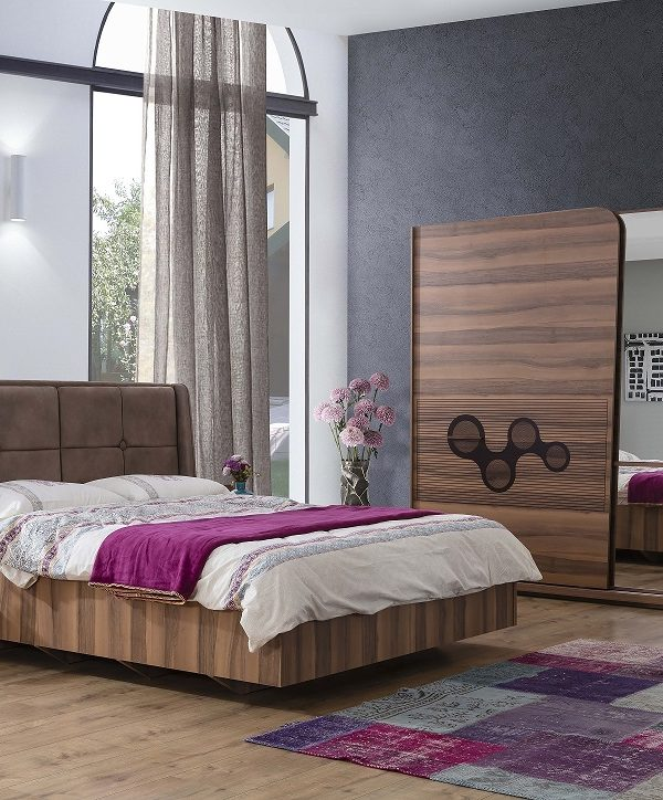 İnci Walnut Bedroom Set