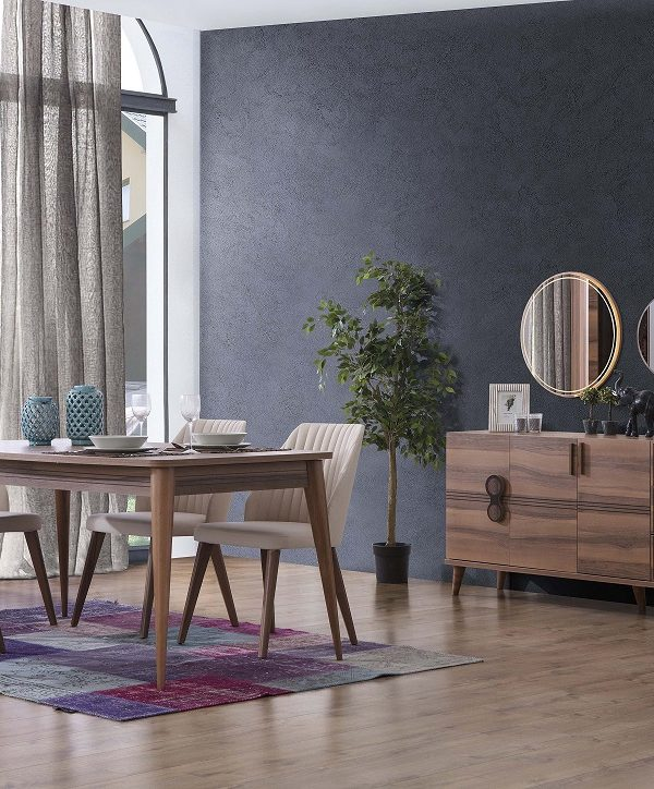 İnci Walnut Dining Set